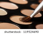 close up of eyeshadow palette... | Shutterstock . vector #119524690