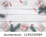 christmas greeting card wrapped ...   Shutterstock . vector #1195250989