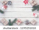 hristmas greeting card ...   Shutterstock . vector #1195251010