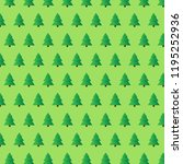 fir tree vector pattern. green... | Shutterstock .eps vector #1195252936