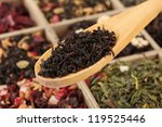 Assortment Of Dry Tea In Woode...