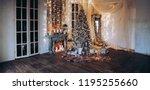 panoramic photo warm  cozy... | Shutterstock . vector #1195255660