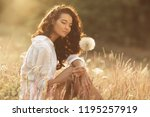 free happy woman enjoying... | Shutterstock . vector #1195257919