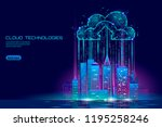 smart city 3d light cloud... | Shutterstock .eps vector #1195258246