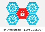 five compact polygonal with...   Shutterstock .eps vector #1195261609