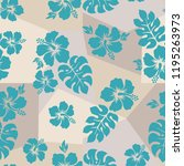 tropical background with... | Shutterstock .eps vector #1195263973