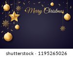 merry christmas and happy new... | Shutterstock .eps vector #1195265026
