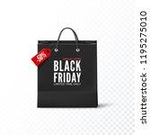 black friday concept. black... | Shutterstock .eps vector #1195275010