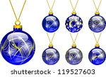 decorations for christmas tree... | Shutterstock .eps vector #119527603