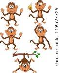Stock vector monkey cartoon 119527729