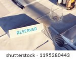reserved table. a tag of...   Shutterstock . vector #1195280443