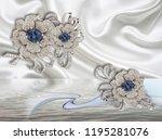 3d wallpaper with jewelry... | Shutterstock . vector #1195281076