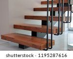 Wood And Metal Spiral Staircase