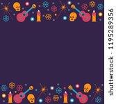 dead day festival frame with...   Shutterstock .eps vector #1195289356