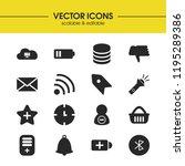 ui icons set with wifi  star...