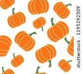 hand drawn seamless pattern... | Shutterstock .eps vector #1195292509
