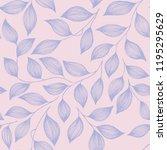 packaging tea leaves pattern... | Shutterstock .eps vector #1195295629