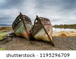old boats on the shore at salen ... | Shutterstock . vector #1195296709