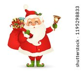 funny  happy santa claus with... | Shutterstock .eps vector #1195298833
