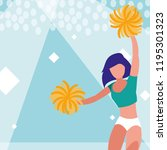 woman cheerleader isolated icon | Shutterstock .eps vector #1195301323