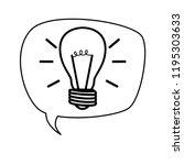speech bubble with bulb light...   Shutterstock .eps vector #1195303633