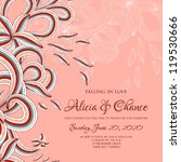 wedding card or invitation with ...   Shutterstock .eps vector #119530666