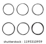 scribble round circles isolated ... | Shutterstock .eps vector #1195310959