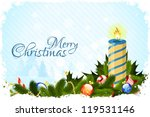 grungy christmas card with... | Shutterstock .eps vector #119531146