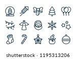 new year and christmas related... | Shutterstock .eps vector #1195313206