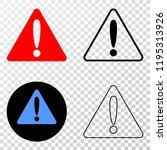 warning eps vector icon with...