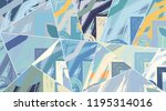 abstract collage asymmetric... | Shutterstock .eps vector #1195314016