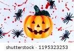 halloween pumpkin head lantern... | Shutterstock . vector #1195323253