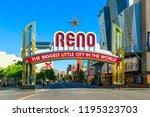 reno   june 17  the reno arch... | Shutterstock . vector #1195323703