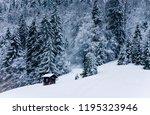 beautiful winter landscape in... | Shutterstock . vector #1195323946