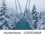 pedestrian suspension bridge in ... | Shutterstock . vector #1195324069