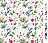 watercolor seamless herbs... | Shutterstock . vector #1195324276