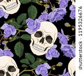 gothic seamless pattern with... | Shutterstock .eps vector #1195326676
