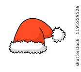 doodle color christmas icon  ... | Shutterstock .eps vector #1195329526