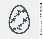 easten  floral egg vector | Shutterstock .eps vector #1195332550