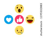 set of emoticon with flat...   Shutterstock .eps vector #1195332883