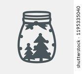 christmas jar vector | Shutterstock .eps vector #1195335040