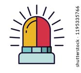 lit alarm isolated icon | Shutterstock .eps vector #1195335766