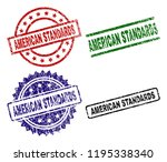 american standards seal prints... | Shutterstock .eps vector #1195338340