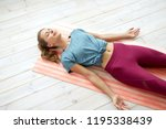 fitness  sport and healthy... | Shutterstock . vector #1195338439