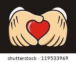 vector   hand making heart sign   Shutterstock .eps vector #119533969