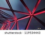 Steel Structure Bridge Close Up ...