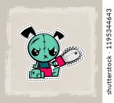 halloween stitch puppy zombie... | Shutterstock .eps vector #1195344643