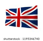 waving flag of the great... | Shutterstock . vector #1195346740