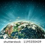 earth from space. best internet ... | Shutterstock . vector #1195350439