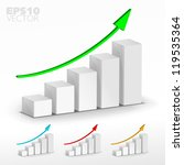 3d graph. vector. | Shutterstock .eps vector #119535364